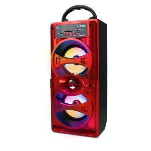 Caixa De Som Bluetooth SD FM USB 90Watts CS-M421BT Vermelho