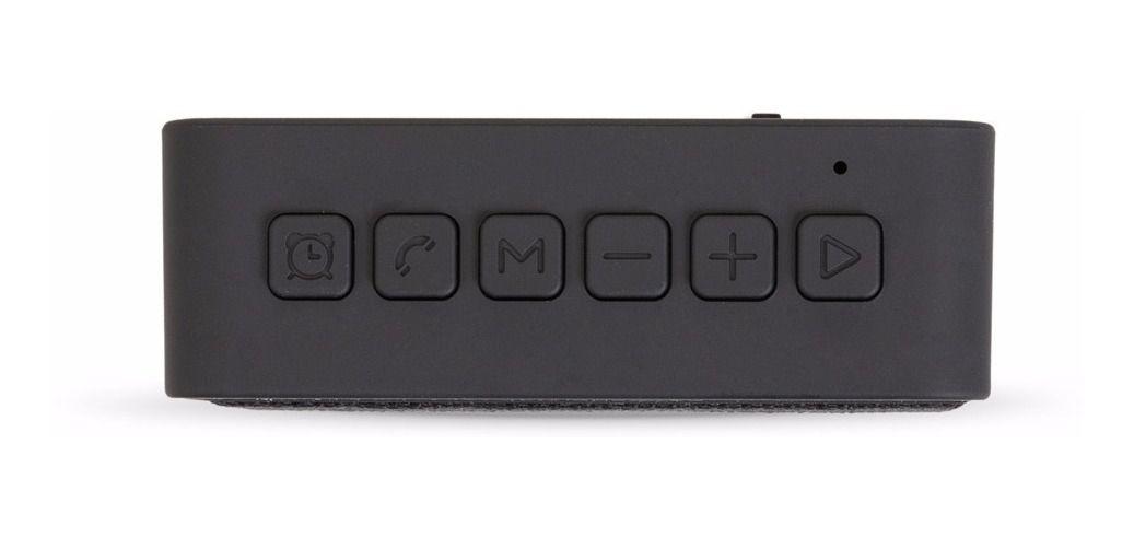 Caixa De Som Bluetooth Usb Microfone Alarme Relógio Digital