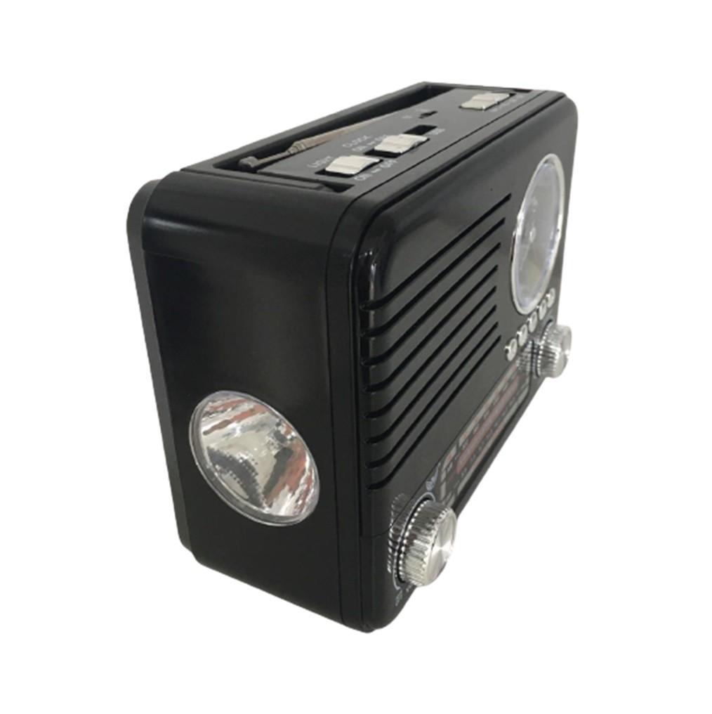 Caixa De Som Blutooth Radio Am/Fm Sd Usb Aux Relógio Lanterna