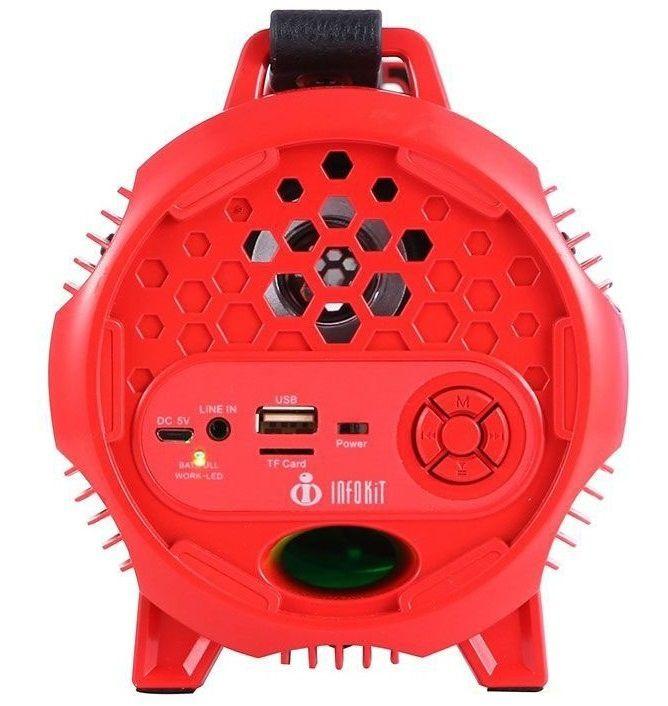 Caixa de Som Multimídia Csm330 Bluetooth Aux Sd Usb Vermelho