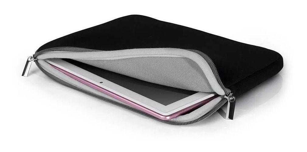 Case Pocket Preto e Cinza Para Notebook Até 14 Bo207