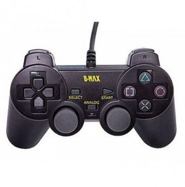 Controle Joystick Analógico P/ Playstation 2 B-Max Preto