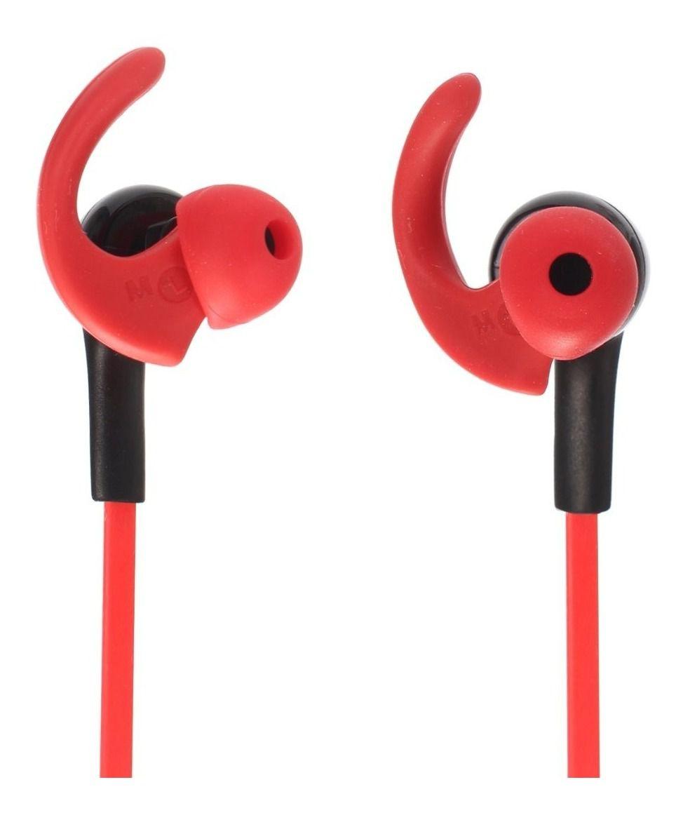 Fone de Ouvido Bluetooth Intra-Auricular Fb-Bt-2 Vermelho