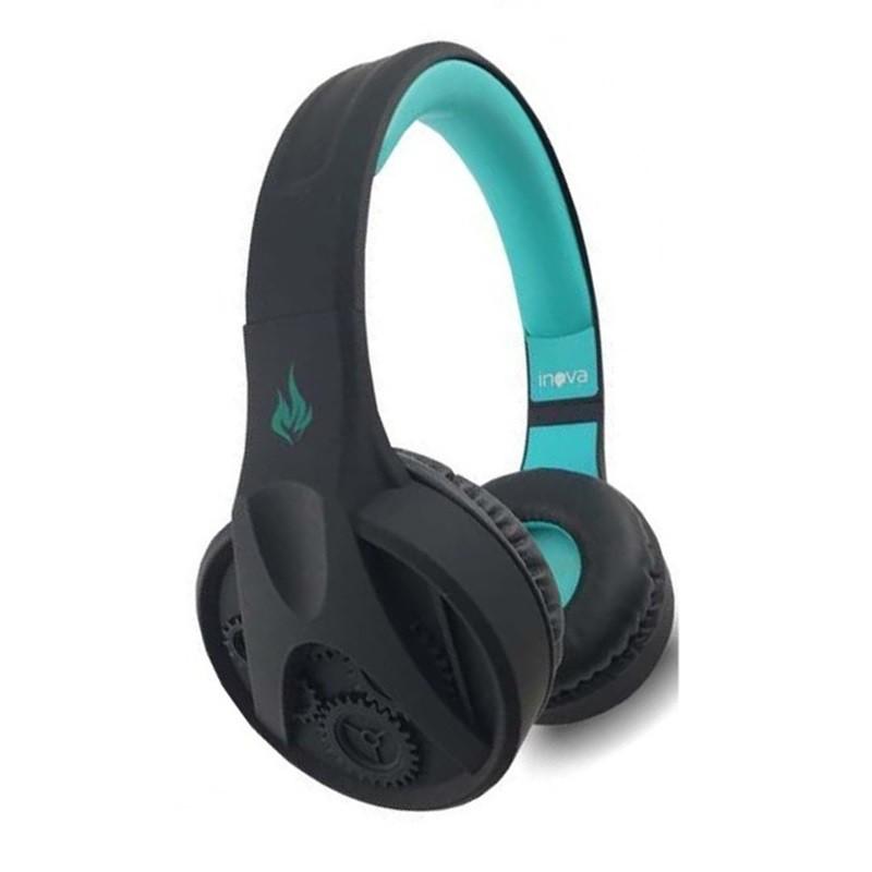 Fone Headfone Estéreo Sem Fio Bluetooth Almofadada Inova