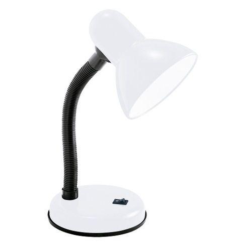 Luminária Branca Maleável C/base 60w Lâmpadas De Rosca E-27