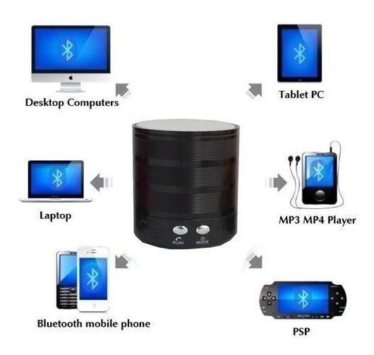 Mini Caixa Som Bluetooth P/ Pc Celular Sd Fm Android Apple