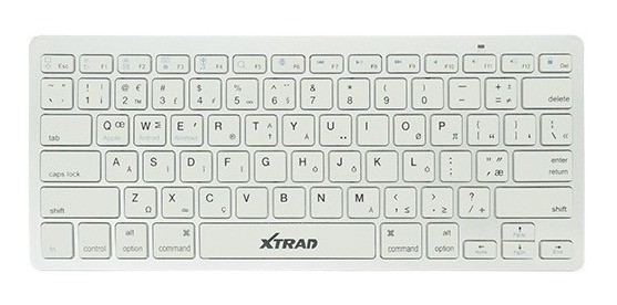 Mini Teclado Sem Fio Smart Extra Fino Xtrad Branco