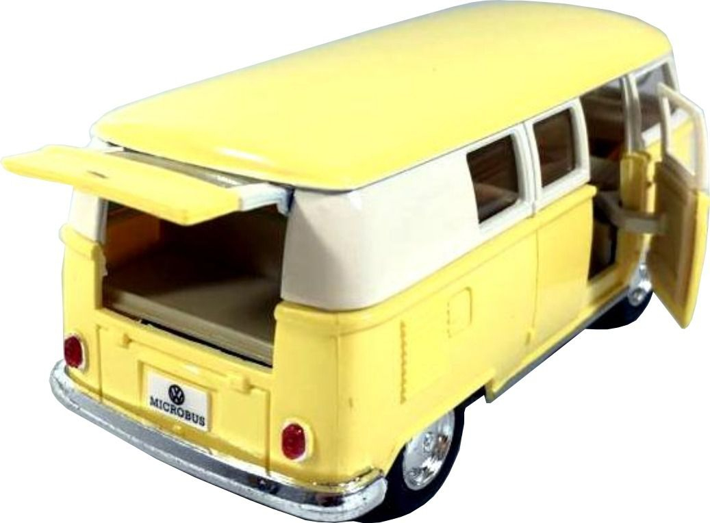 Miniatura Volkswagen Kombi 1962 Clássico Escala 1:32 Amarelo
