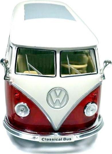Miniatura Volkswagen Kombi Custom 1963 Vermelha 1/24