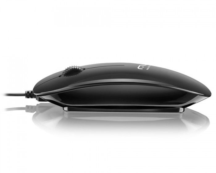 Mouse Multilaser Colors Slim Black Piano Usb Mo166