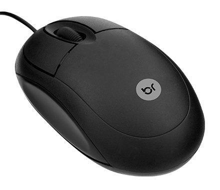 Mouse Óptico Com Fio Bright Usb 800 Dpi 0106 Preto