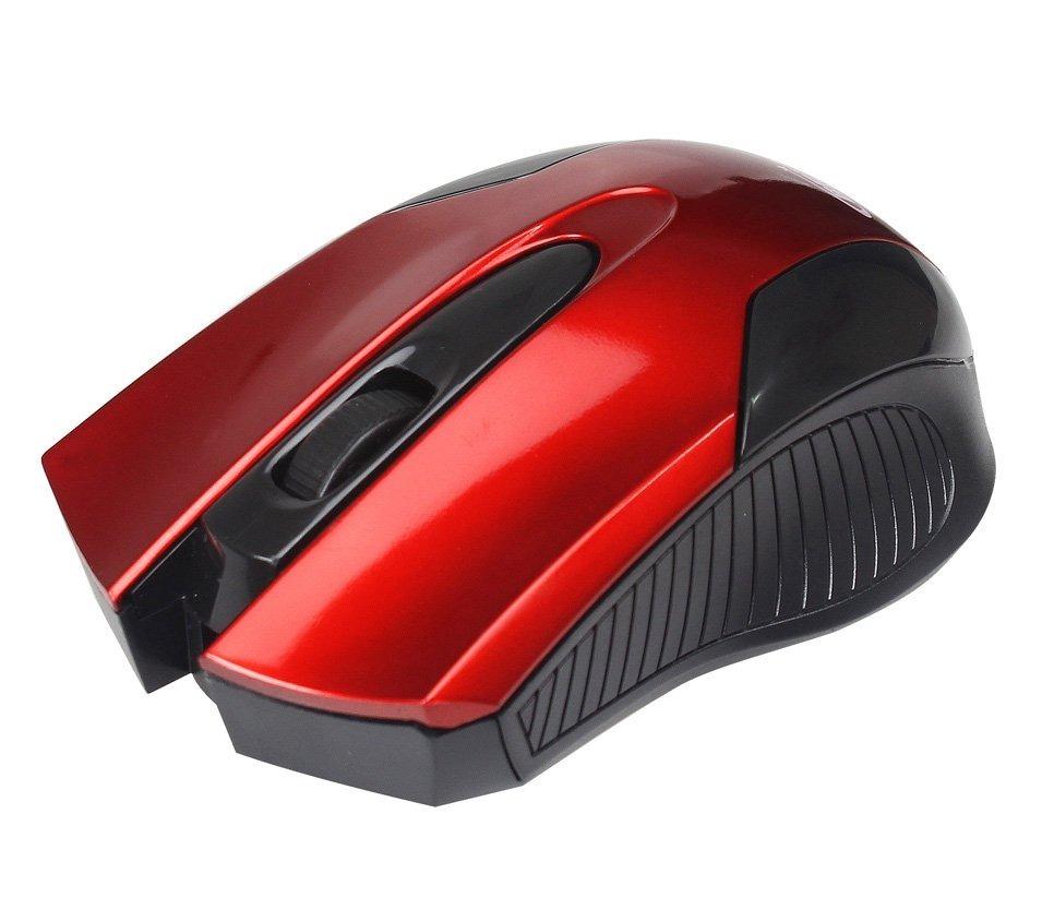 Mouse Óptico Usb 1000dpi Design Ergonômico 02210 Vermelho