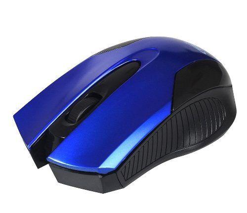 Mouse Óptico Usb 1000dpi Design Ergonômico Azul 0379