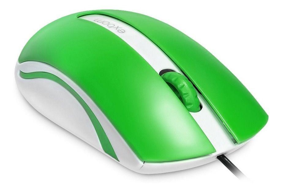 Mouse Óptico Usb Exbom Ms-50 1000dpi Alta Qualidade Verde