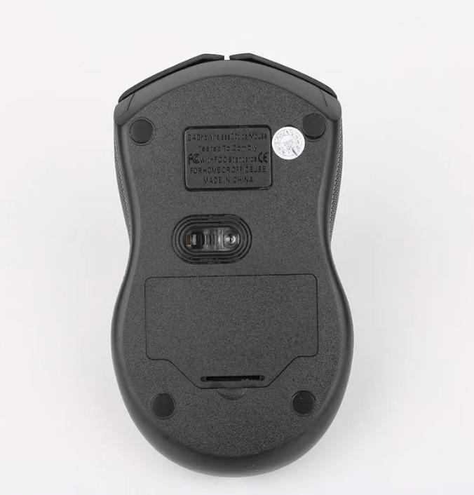 Mouse Sem Fio Wireless 3200 dpi 2.4GHZ Weibo Preto