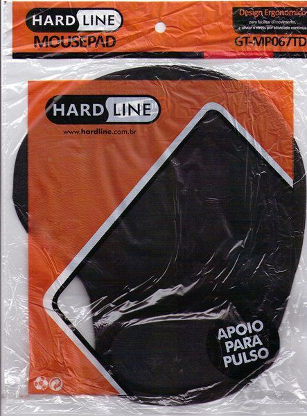 Mousepad Ergonomico Hardline Almofada Apoio Preto  MP067TD