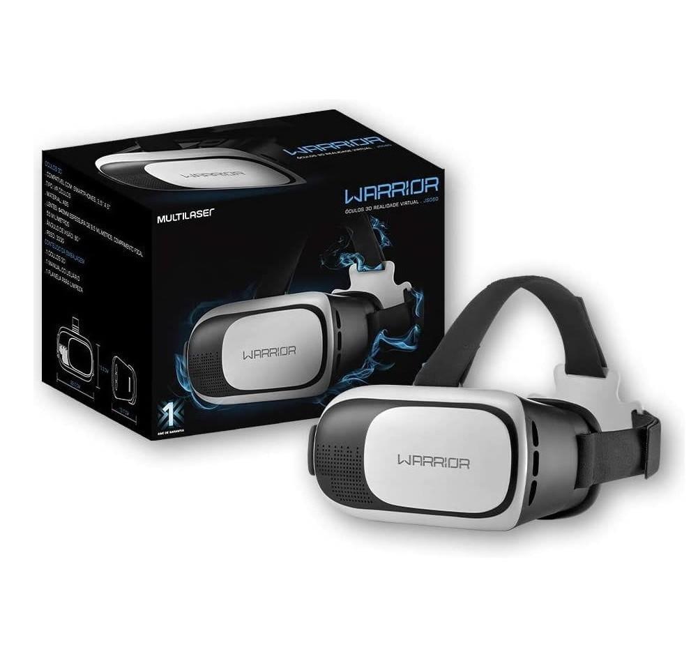Óculos De Realidade Virtual 3d Gamer Warrior Para Celular