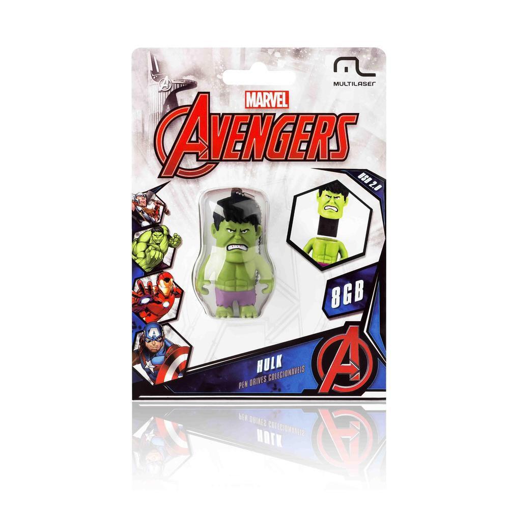 Pen Drive Multilaser Vingadores Hulk 8gb Licenciado Marvel