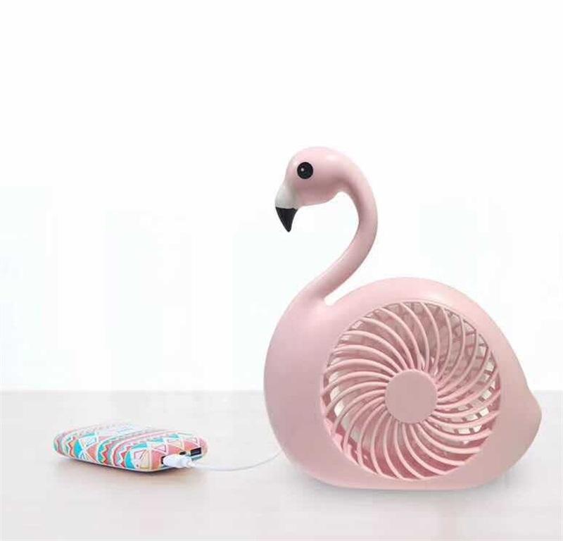 Ventilador De Mesa Recarregável Nível De Velocidade Flamingo