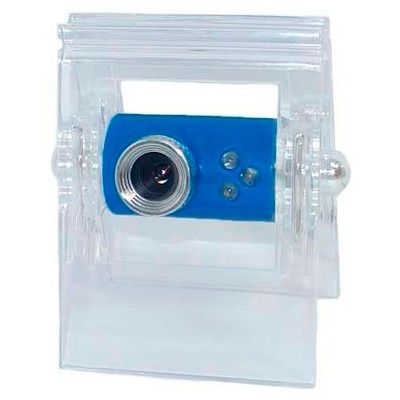 Webcam DNE 10MP Alta Precisão Microfone Usb Ibe-001 Azul