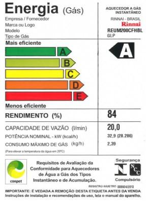 Aquecedor a Gás M20 Rinnai - 20 litros