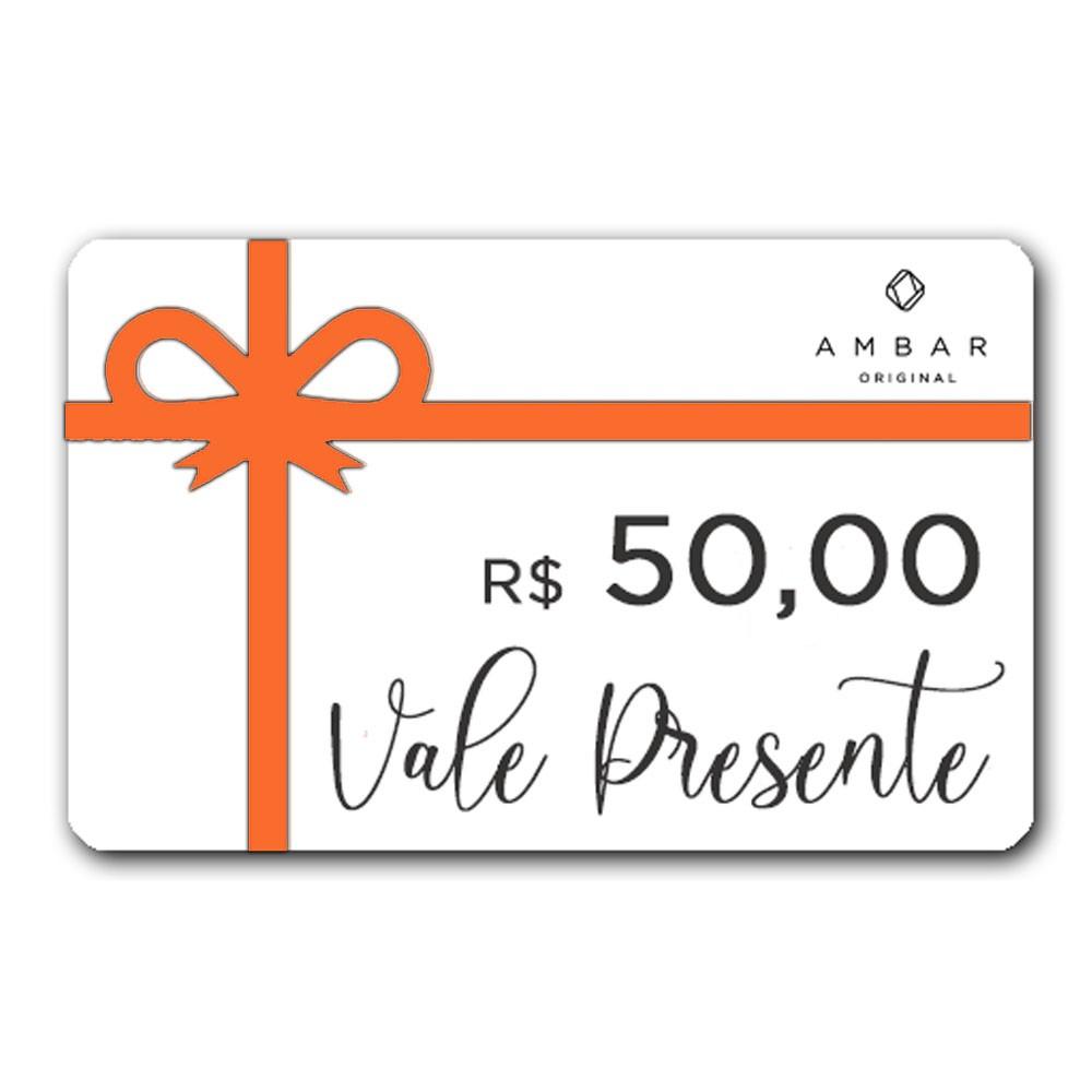 VALE PRESENTE R$ 50,00 (cinquenta reais)