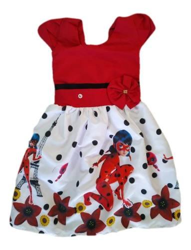 Vestido Infantil Ladybug Miraculous
