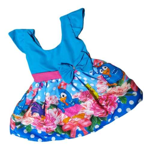 Vestido Galinha Pintadinha Infantil Temático
