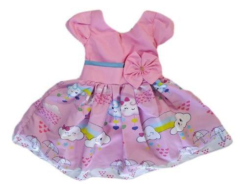 Vestido Infantil Chuva De Benção Temático