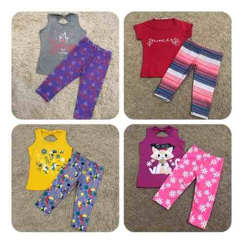 Kit 3 Conjuntos Infantil Feminino Legging
