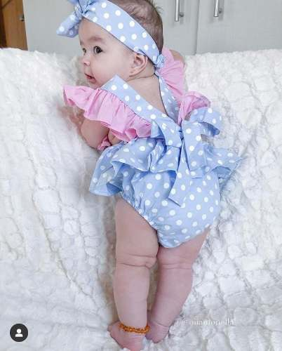 Jardineira Com Turbante Infantil Body