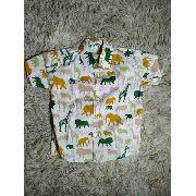 Camisa Infantil Social Temática Do Safari