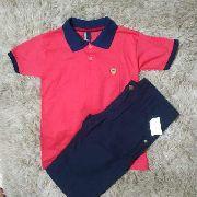 Conjunto Camisa E Bermuda Menino Roupa Infantil Masculino