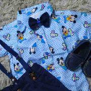 Roupa Fantasia Temática Do Mickey Baby Mouse Disney Menino