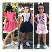Kit 5 Roupa Infantil Blogueirinha Mini Diva