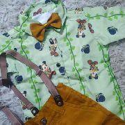 Roupa Infantil Temática Mickey Mouse Disney Safari Menino