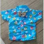 Camisa Infantil Temática Social Baby Shark