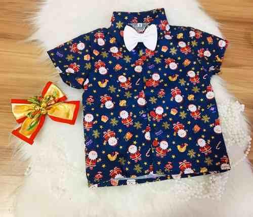 Camisa De Natal De Menino Blusa Natalina Social