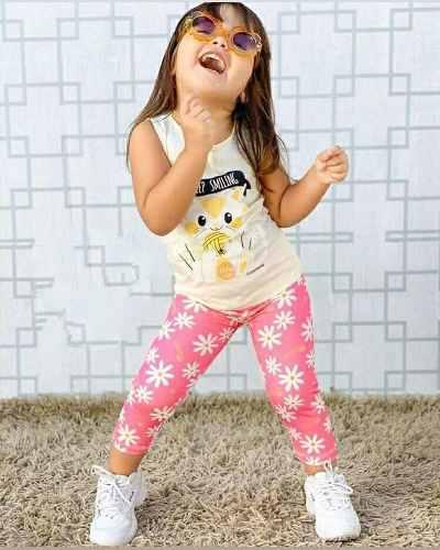 Kit 5 Conjunto Infantil Feminino Legging Atacado Promoçao