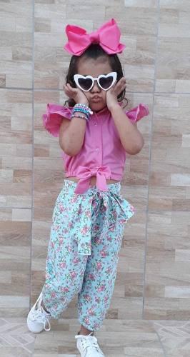 Conjunto Roupa De Menina Infantil Mini Diva Blogueirinha