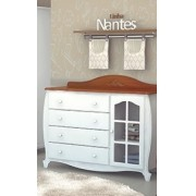 Comoda Nantes Plus Janelinha - Branco/Mel - JC Moveis
