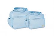 Conjunto Bolsa e Frasqueira Luxo - Azul Bebe