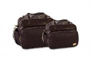 Conjunto Bolsa e Frasqueira Luxo - Onça