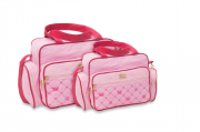 Conjunto de Bolsa e Frasqueira Baby - Rosa