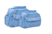 Conjunto de Bolsa e Frasqueira Chess - Azul Bebe