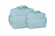 Conjunto de Bolsa e Frasqueira Cloe - Azul Bebe