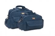 Conjunto de Bolsa e Frasqueira Fofura - Azul Jeans