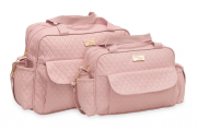 Conjunto de Bolsa e Frasqueira Fofura - Rosa