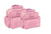 Conjunto de Bolsa e Frasqueira Lacinho - Rosa