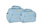 Conjunto de Bolsa e Frasqueira Tede - Azul Bebe
